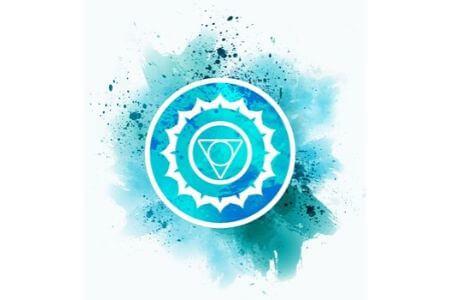 chakra de la gorge bleu