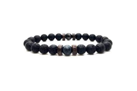 bracelet pierre polie foncé